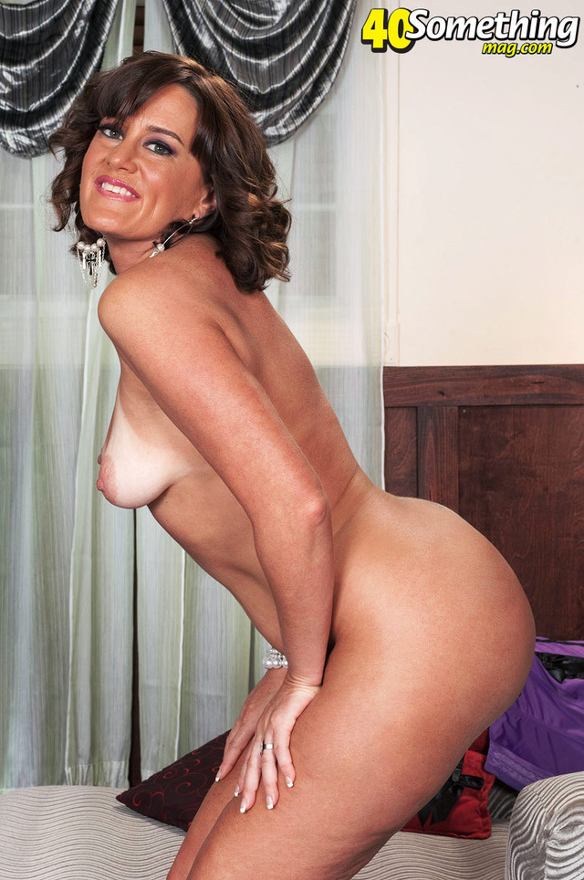 Tan brunette milf