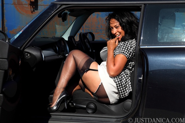 centerfold gallery porn star stocking stockings danica collins strips park car