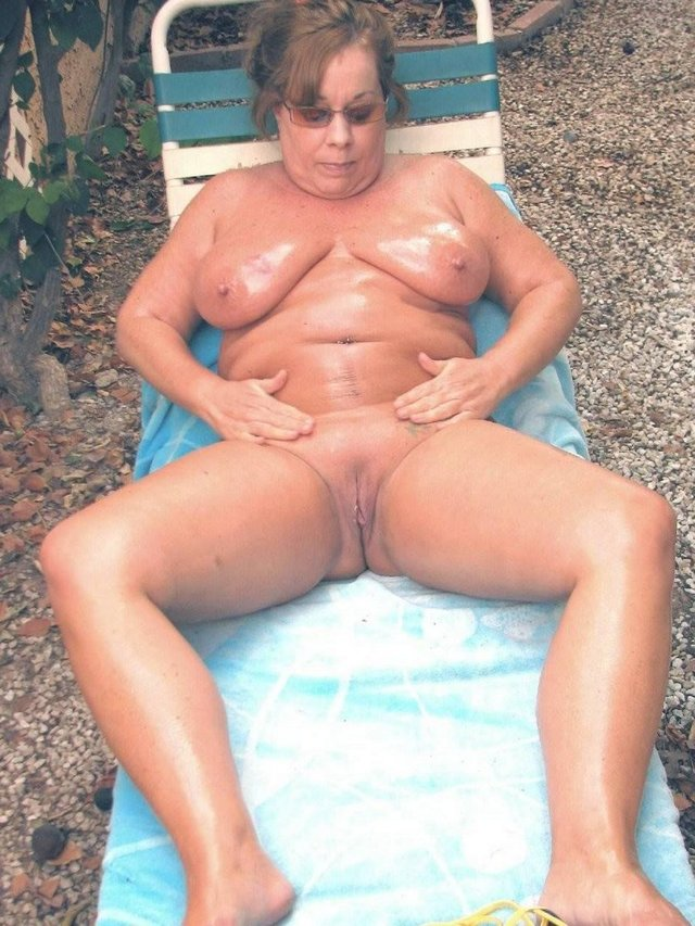 Fat granny nude beach something is