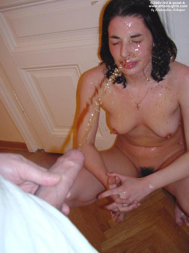 Golden shower anal