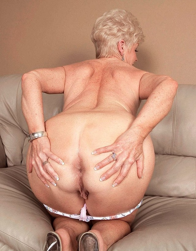 Grandmother anal fucked