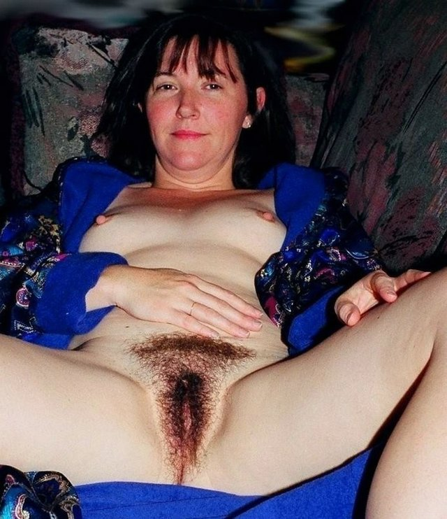 Hairy Mom Spreads For Son