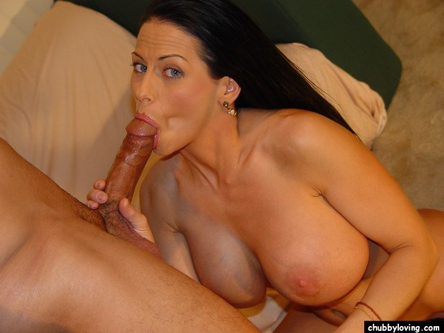 Chubby mature brunette blowjob