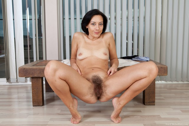 mature brunette porn pussy hairy tit models small eva extremely spreads easy woodfloor