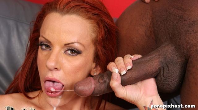 Sucking redheaded milf