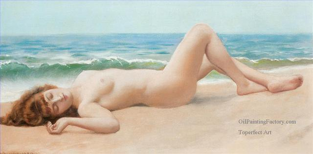 lady porn galleries lady nude pic classic oil english painting william john styles canvas sur plage godward