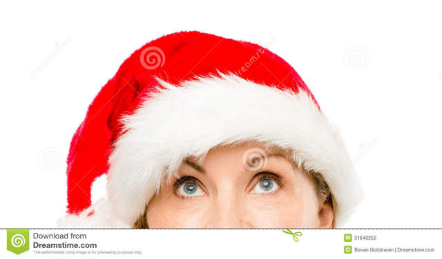 mature close up mature woman hat close wearing christmas looking pretty stock photography santa