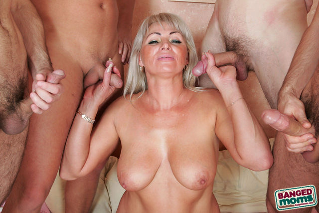 mature group sex mom banged