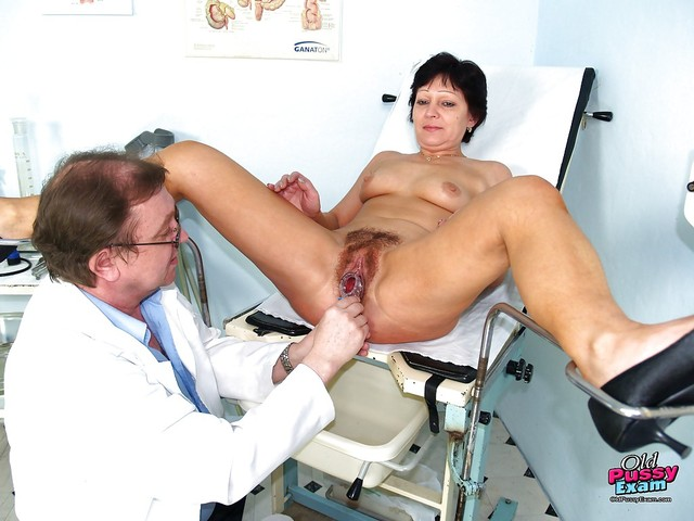 mature milf bank short mature pictures pics brunette hairy cunt gets haired gyno stretched examed