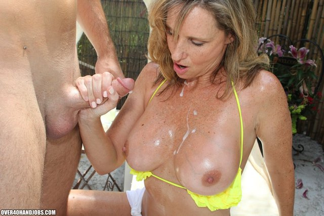 mature porn handjob milf cock over gives handjob delivers west forty meat jodi stick tugjob sunscreen