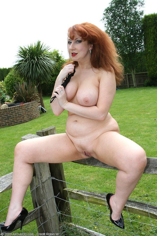 mature redhead porn pics mature xxx ass milf wife tits off redhead shows takes red bath clothes outdoors