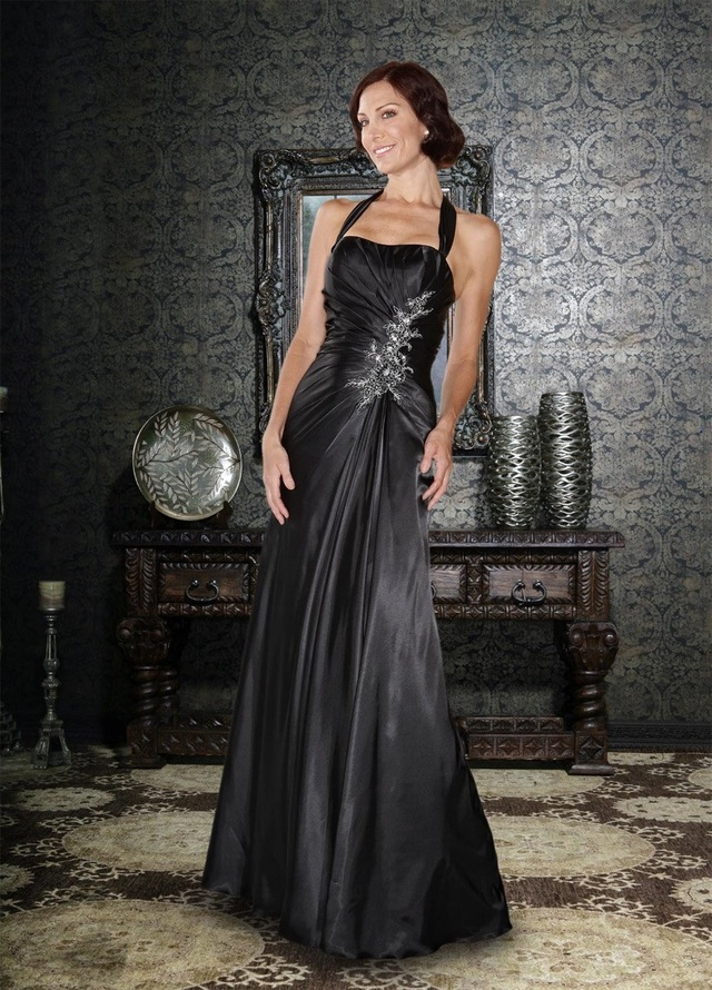 mature sexy gallery mature mother black sexy dress charming eye brides catching formal feminine eyecatching taffeta fabric
