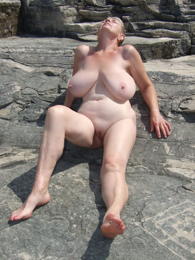 Your Old mature granny outdoors excellent