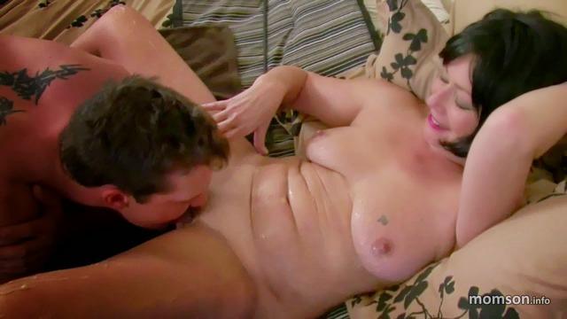 Big tits brunette gets fucked