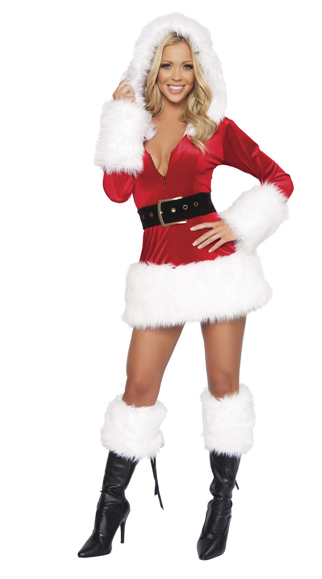 nude adult women photos women adult hot sexy red christmas costume dress mini santa plush detailed