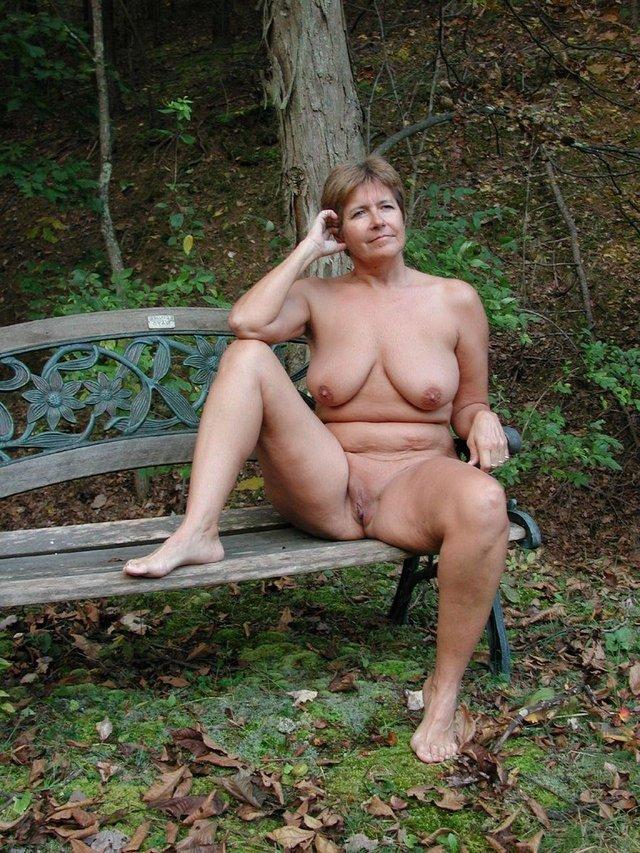 Mature senior nudist beach