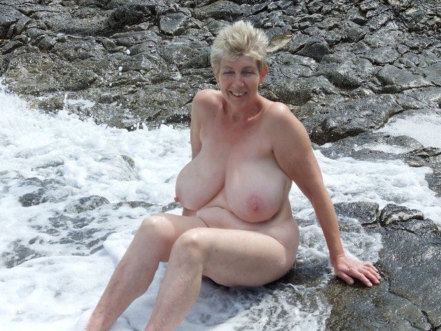 Nudist camp mature big tits