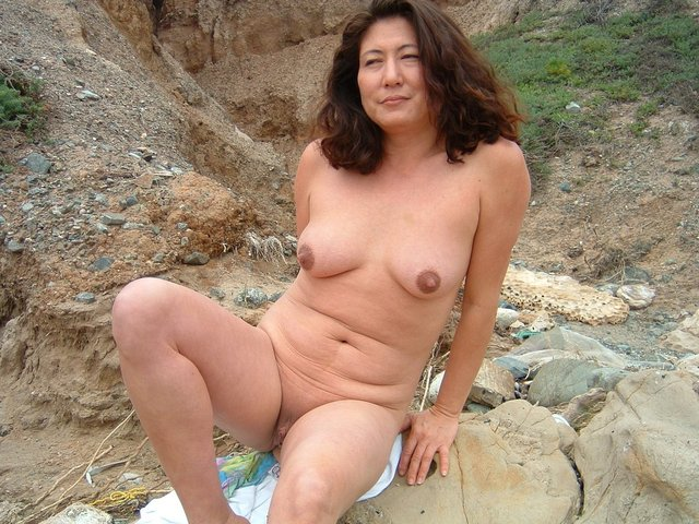 Asian nude on pulic beach