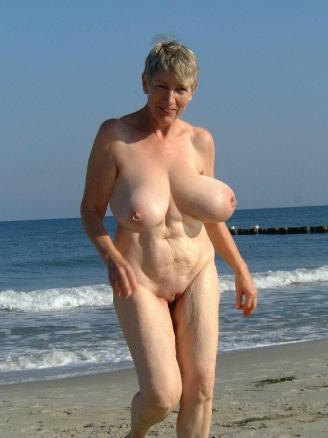 older women nude on beach