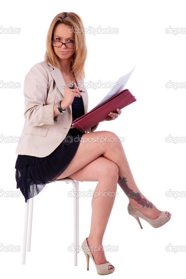 beautiful mature mature woman photo beautiful white shot secretary some depositphotos isolated stock reading studio documents bench seated