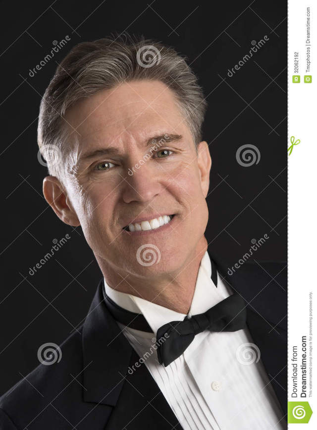 mature black mature black man over close background portrait tuxedo isolated stock photography handsome