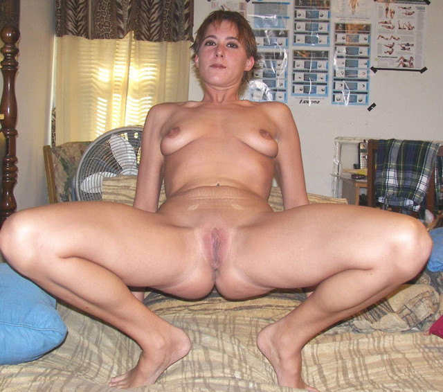 Legs spread naked amateur