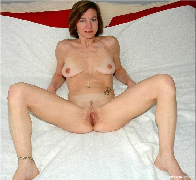 Mature women with legs spread wide