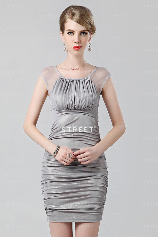 mature party mature party sexy long plus neck dress grey size cocktail scoop productimg ruched lcfs