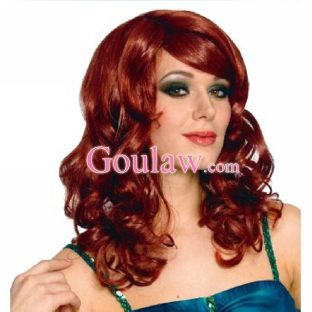 mature red mature media sexy female red costume wine product eab catalog wavy wigs