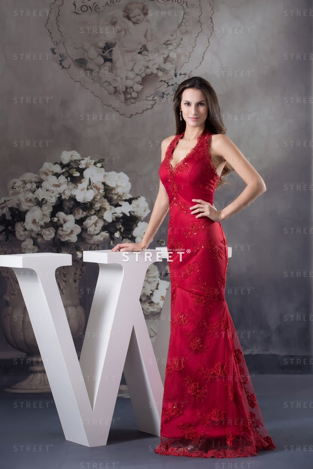 mature red mature red length floor dress lace satin formal indie sheath halter luxury productimg ruched