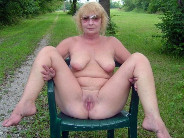Are not Old mature granny outdoors join