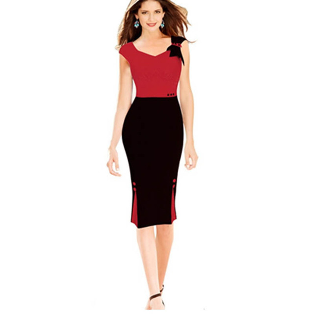red mature mature black ladies red dress work price zips font outfits appealing pencil bowknot htb xfxxq xxfxxxa jxxxxxx patchwork