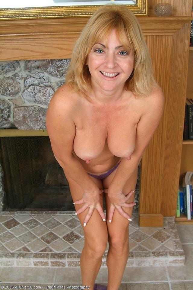 Hot blonde granny