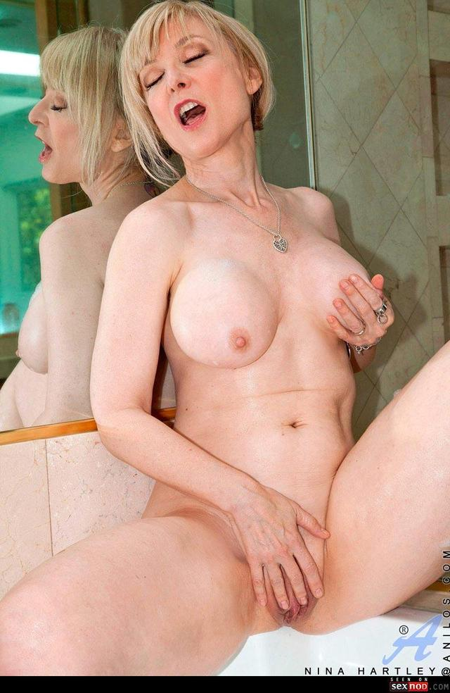Mature solo hairy skinny