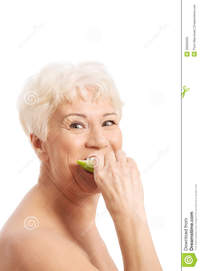 free old woman porn gallery nude old woman eating apple isolated white royalty free stock photo