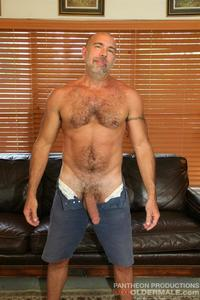 hot older porn hot older male jason proud hairy muscle daddy thick cock amateur gay porn stroking his