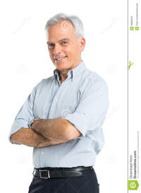 man mature porn portrait senior man happy mature hands folded isolated white background