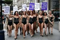 mature lingerie porn scale large photos mature models protest their lingerie oxford street hotties