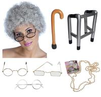 old lady in porn grannyitems granny old lady woman grandma fancy dress costume accessories