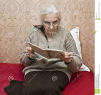 old lady porn old lady reading book european watering viola flower home