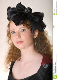 old pic porn woman woman old fashioned dress stock photo