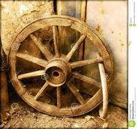 old time porn old cart wheel time stock photo