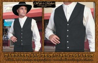 old west porn vests old west black notched lapel vest scully from tribnal western