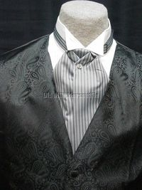 old west porn mens gray grey ascot wedding old west formal cravat tie