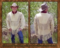 old west porn menscoats hondaa handmade honda pull over fringed jacket shirt from tribal impressions