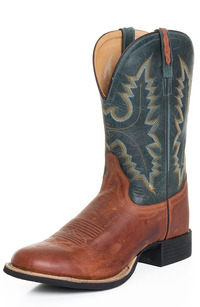 old west porn langstons old west mens cowboy boots inch round toe leather blue tan antique