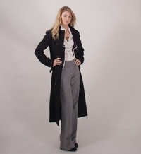 older porn tall very woman lanky bird ascott black grey fleck tall womens trousers