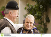very old porn old couple portrait very country side smiling having fun