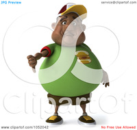 young porn thumb old royalty free clip art illustration chubby black burger man holding down