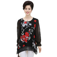 bbw mature black porn htb yrmpxxxxa xvxxq xxfxxxn classy middle aged woman chiffon layered blouse mature ladies black yellow red flower print silk tops moms